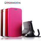 DM Stand Real Genuine Leather Case Cover for HTC Sony LG Iphone Mobile Phones