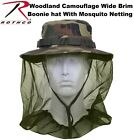 Boonie Hat Woodland Camo Military Boonie Hat With Mosquito Netting Rothco 5833