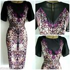 NEW JULIEN MACDONALD DRESS STAR DEBENHAMS PENCIL RETRO BLACK 8 10 12 14 16 18 20