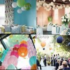 "10 Round Paper Lanterns 16""(40cm) Wedding Party Hanging Decor Birthday Colors"