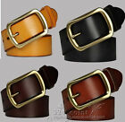 PD001 High quality fashionable personality men women cowhide leather belt GIFT