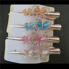 Lot Classic Rose Gold Rhinestone Butterfly Oxhorn Hair Claws Hair Accessories