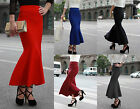 ♡IT♡ Knitted Stretchy Maxi Fit Flare Fishtail Peplum/Skater Skirt Mermaid body