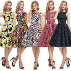 GK STOCK Rockabilly Jive 50s 60 Pinup Floral Retro Housewife Swing Evening Dress
