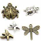 Ladybug & Dragonfly Beads, Charms, & Pendants - Nickel Free Tibetan Silver