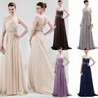 Long Chiffon Evening Bridesmaid Prom Dress Formal Party Ball Gown 6 8 10 12 14 +