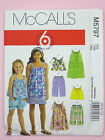McCall's 5797 Sewing Pattern Childs'/Girls' Top, Dress, Shorts & Trousers - Easy