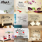 Love Art Kitchen Removable Vinyl Quote Wall Stickers Decal Mural Home Kids Decor