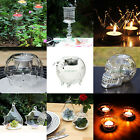Crystal Glass Hanging Stand Candle Holder Candlestick Wedding Dinner Party Decor