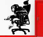 Wall Stickers Vinyl Decal Monkey Boss In A Chair Apes Animals Decor (z2313)