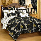 AP Black and Snow  Camo Bed, Bath, and Curtains 14 PIECE SET