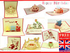 LARGE RANGE OF POP UP CARDS 3 D HAPPY BIRTHDAY CARD KIRIGAMI CARD