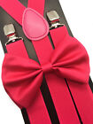 Suspender and Bow Tie Set for Adults Men Women Teens (USA Seller)