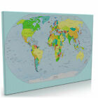 World Map Canvas Wall Art Picture Print Many Sizes