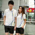 2014 New Summer LiNing Mens Badminton Table Tennis Athletic Shirt +Shorts