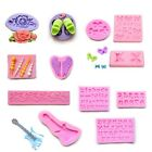 Mix 3D Silicone Floral Tray Fondant Cake Decorating Mould Sugarcraft Baking Tool