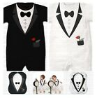 Baby Boy Wedding Formal Dressy Suit Tuxedo Outfit Cloth 100% COTTON 3 6 12 18M