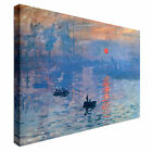 Modern Claude Monet sunrise Canvas Wall Art Print Large + Any Size