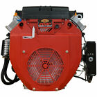 """NEW 20HP V-TWIN GAS ENGINE 614CC ELECTRIC START 1"""" SIDE SHAFT SMALL MOTOR MUD"""