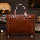 Men's Genuine Leather Business Briefcase Messenger Bag Laptop Portfolio Tote