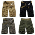 Mens Summer Casual Cotton Combat CAMO Army Work Pocket Cargo Shorts Pants New