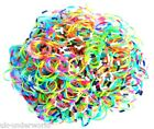 600 1200 Colourful Bold Glitter Neon Scented Loom Rubber Bands Braclet Making