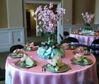 """20 x SATIN SQUARE 90x90"""" TABLE OVERLAYS Wedding Party Prom Catering Decorations"""