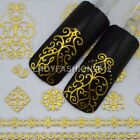 Fashion 3D Gold Silver Floral Patterns Nail Art Stickers Decorations Tips 012#