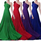 Long Bridesmaid Shoulder Flower Decorate Party Formal Evening Prom Ball Gowns