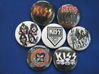 "KISS ROCK  7 SELECT A SIZE Necklace or Pinbacks or Necklace 1"", 1.25"" or 2.25"""