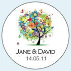 Personalised Wedding Stickers Labels. 5 sizes. Summer Tree 039