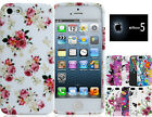 Flowers Pattern Floral Design Silicone TPU Back Case Cover Apple iPhone 5 5s
