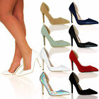 WOMENS LADIES POINTED TOE HIGH HEELS COURT SHOES WORK OFFICE D'ORSAY STILLETTOS