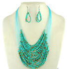 Antique fishing line beads fashion Necklace Earrings Women Vintage Jewelry sets
