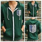 Green Attack on titan / shingeki no kyojin Investigation Hoodies Jackets Coat !!