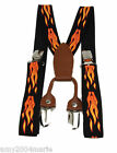 """Boys Flames 1"""" Wide Suspenders Fits 2 - 5 Years Adjustable 2T 3T 4T 5T"""