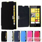 New Magnetic Leather Case Flip Battery Cover Back Hard Case For Nokia Lumia 520