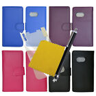 Wallet Flip Phone Case Cover + Screen Protector + Stylus Pen For HTC One Mini 2