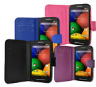 New Wallet Flip Case Cover For Motorola Moto E Mobile Phone