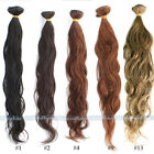 "12-28"" Virgin Natural wave Wavy Remy Brazilian human hair extensions 50g"