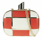Mosaic Perfume Shaped Hard Case Clutch Bag Box Fashion Style Elegant Vintage