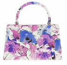 Floral Top Handle Clutch Bag Faux Leather Flower Print Summer Fashion New Trend