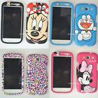 Pink Cartoon Polka Dot cat front back case cover for Samsung Galaxy S3 III i9300