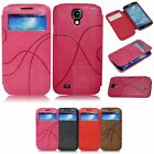 For Samsung Galaxy S4 S IV SIV Color Flip PU Leather Case Cover Smart Wake/Sleep