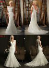 2 New Arrive Lace Mermaid Backless Wedding Dress Bridal Gown Proms Bridesmaid