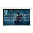 ELECTRIC PROJECTOR SCREENS HOME CINEMA MATT WHITE 4:3 MULTIPLE SIZES 1.8-5.1m