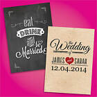 100 Personalised Wedding Invitations with Envelopes ★ Day & Evening Invites ★