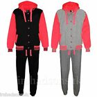 KIDS GIRLS VARSITY BASEBALL HOODED FASHION TRACKSUIT HOODIE & JOGGERS AGE 7-13Yr