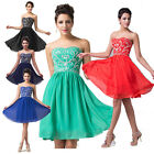 2014 HOT SALE~ Elegant Strapless Evening Formal Party Ball Prom Bridesmaid Dress