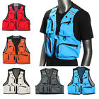 MULTI-POCKET FISHING VEST SHOOTING HUNTING TRAVEL MENS WAISTCOAT ZIPPER CAMPING